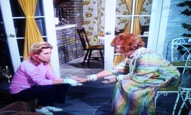 Endora wore this dress in the Bewitched episode named Samantha's Pet Warlock in season 6